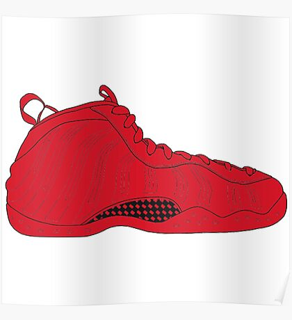 """Nike Air Foamposite One """"All Red"""" Poster"""