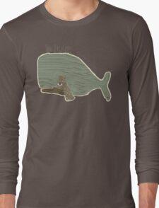 blue whale Long Sleeve T-Shirt