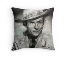 Hank Williams by MB Throw Pillow