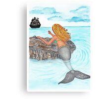 Siren mermaid longing  Canvas Print