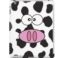 Cow Face, Cow Nose, Cow Spots - Pink Black White iPad Case/Skin
