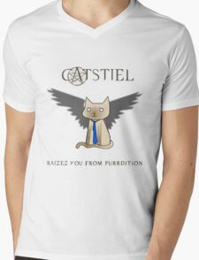 Supercatural Mens V-Neck T-Shirt