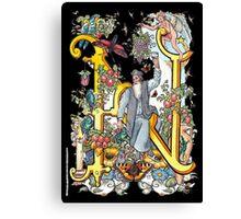 The Illustrated Alphabet Capital N (Fuller Bodied) Canvas Print