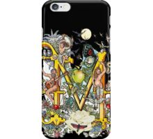 The Illustrated Alphabet Capital M (Fuller Bodied) iPhone Case/Skin