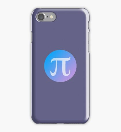 Pi Circle with Gradient iPhone Case/Skin