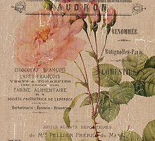 Vintage Burlap Floral 4 by Debbie DeWitt