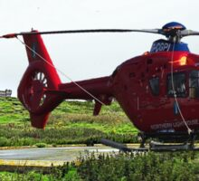 Isle of May Lighthouse & Helicopter Sticker
