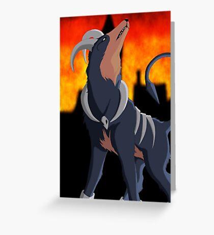 pokemon Houndoom Greeting Card