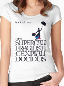 Mary Poppins - Supercalifragilisticexpialidocious Women's Fitted Scoop T-Shirt