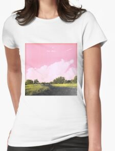 Frank Ocean - Pink + White Womens Fitted T-Shirt