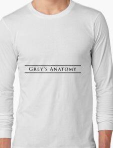 greys anatomy Long Sleeve T-Shirt