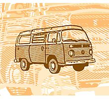 Brown Bay Campervan Dub-U (please see description) Photographic Print