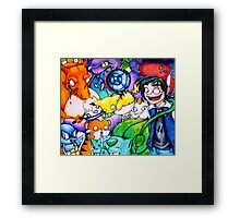 pokemon on acid Framed Print