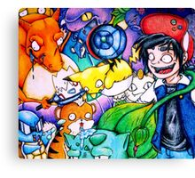 pokemon on acid Canvas Print