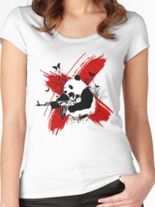 Panda love style Women's Fitted Scoop T-Shirt