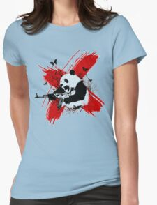 Panda love style Womens Fitted T-Shirt