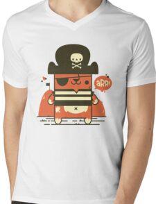Pirate Kitty Mens V-Neck T-Shirt
