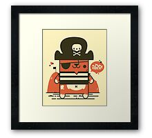 Pirate Kitty Framed Print