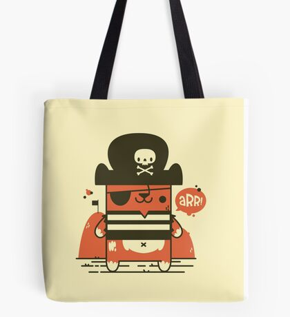 Pirate Kitty Tote Bag