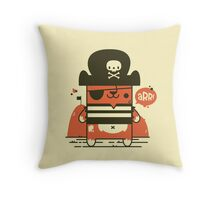 Pirate Kitty Throw Pillow