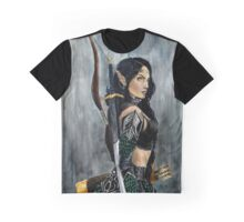 Nikl the Wood Elf Watercolor Painting Graphic T-Shirt