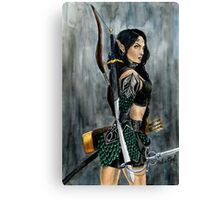 Nikl the Wood Elf Watercolor Painting Canvas Print