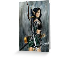 Nikl the Wood Elf Watercolor Painting Greeting Card