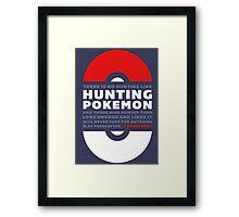 Hunting Pokemon Framed Print
