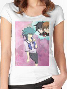 yugioh gx genderbend Women's Fitted Scoop T-Shirt