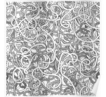 Intricate tangled doodles Poster