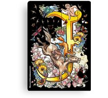 The Illustrated Alphabet Capital J (Fuller Bodied) Canvas Print