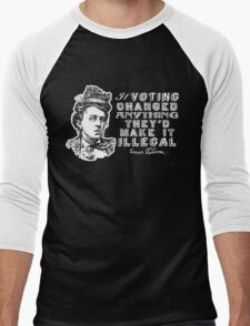 Emma Goldman On Voting Men's Baseball ¾ T-Shirt