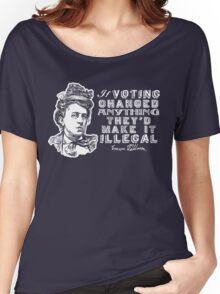 Emma Goldman On Voting Women's Relaxed Fit T-Shirt