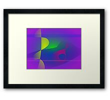 Yellow and Purple Abstract Composition Framed Print