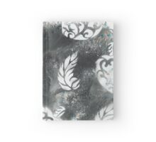 Black Stardust Hearts and Feathers Hardcover Journal