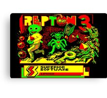 Repton 3 title screen Canvas Print