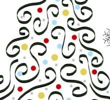 Christmas Tree (white) Sticker