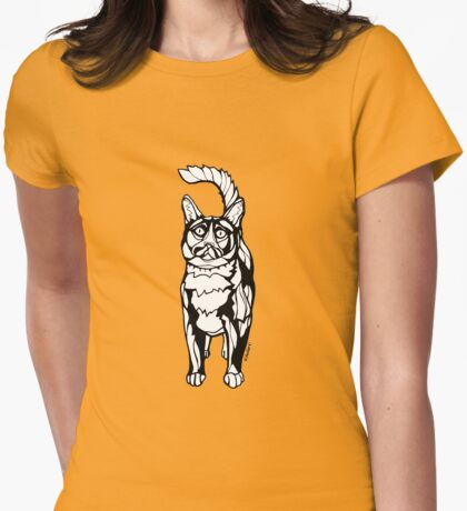 Tom Selleck the Cat: Cat Sharpie Drawings Womens Fitted T-Shirt