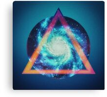 Space galaxy - triangle Canvas Print