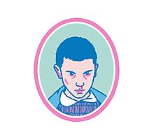 Eleven (or Elf) from Stranger things  Photographic Print