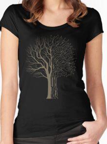 Digital Tree Women's Fitted Scoop T-Shirt