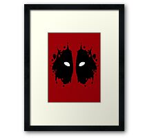Deadpool Rorschach Test Framed Print