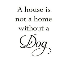 A House Is Not A Home Without A Dog Photographic Print