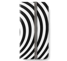 Modern Black & White Geometric Optical Illusion iPhone Wallet/Case/Skin