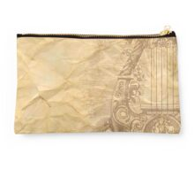Rustic,crumbled,parchment paper,old,worn,grunge,vintage,victorian,reproduction Studio Pouch