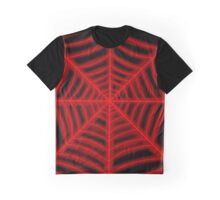 spider web (red glowing) Graphic T-Shirt