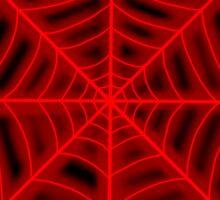spider web (red glowing) Sticker