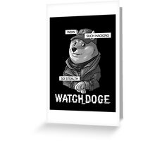 Watch Doge Greeting Card