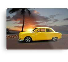 1950 Ford Coupe 'San Diego Sunset' Metal Print