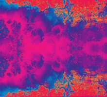 Crashing Waves Abstract Sticker
